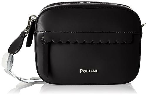 Pollini - Bag, Carteras de mano con asa Mujer, Negro (Nero),