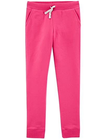 82100ba10 OshKosh B'Gosh Girls' Toddler Fleece Jogger Pants, Pink Noveau, ...
