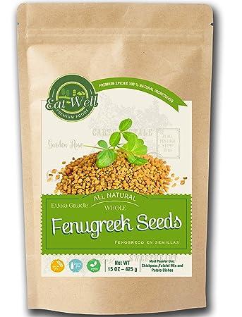 Fenugreek Seeds 15oz 425 G Reseable Bag Bulk Whole Fenugreek Methi