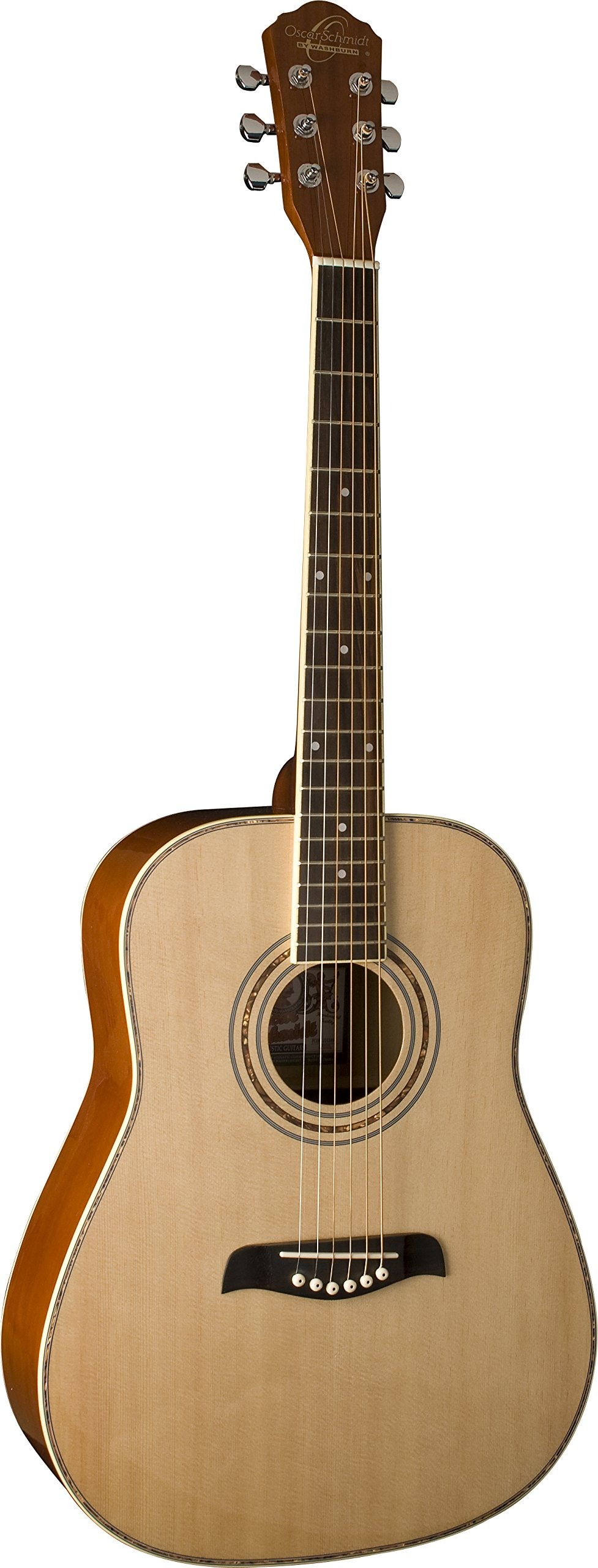 Oscar Schmidt OG1LH-A-U Natural Lefty 3/4 Size Dreadnought Guitar. Left Hand by Oscar Schmidt