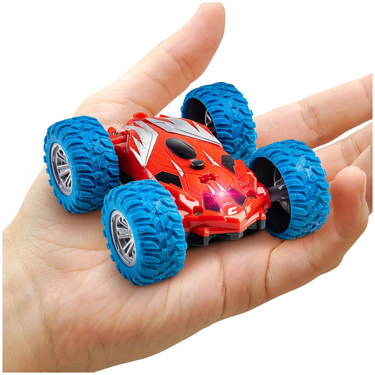Cyclone Mini Remote Control Car for Kids - Double Sided Fast Off Road Stunt Mini RC Cars for Boys and Girls, RC Flip Car