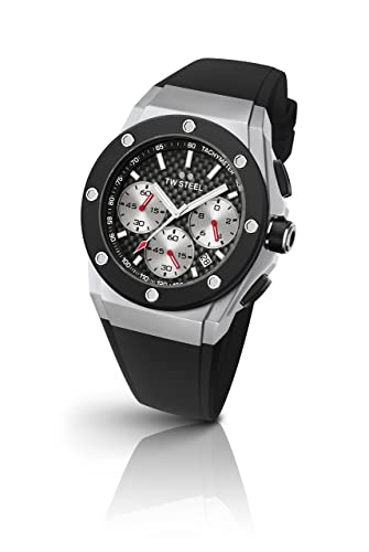 ac0cdf1e98d TW Steel Ceo Tech David Coulthard Edition Unisex Quartz Watch with Black  Dial Chronograph Display and Black Silicone Strap CE4020  TW Steel   Amazon.co.uk  ...