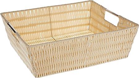 Whitmor 6500-2712-BLK Rattique Small Shelf Tote