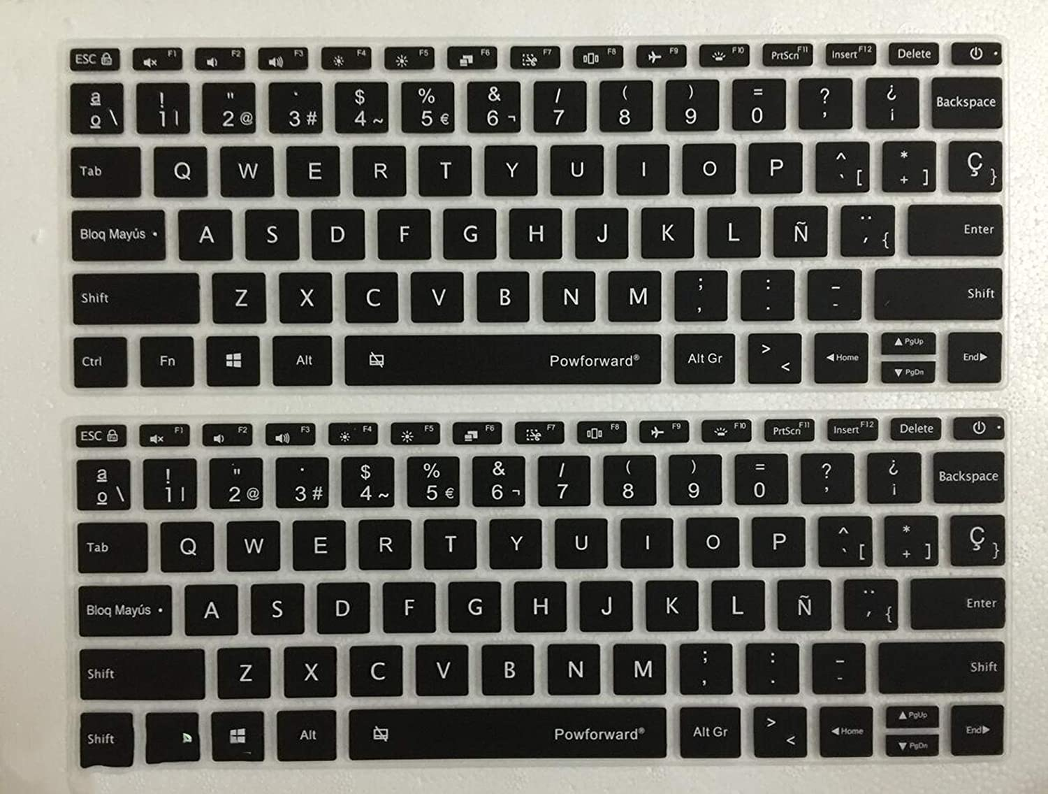 12 13 15 Inch Spanish Silicone Laptop Keyboard Cover Prorector for XiaoMi Notebook Air 12.5 13.3 15.6 Pro Mi Lapto,MI Air 13inch Clear