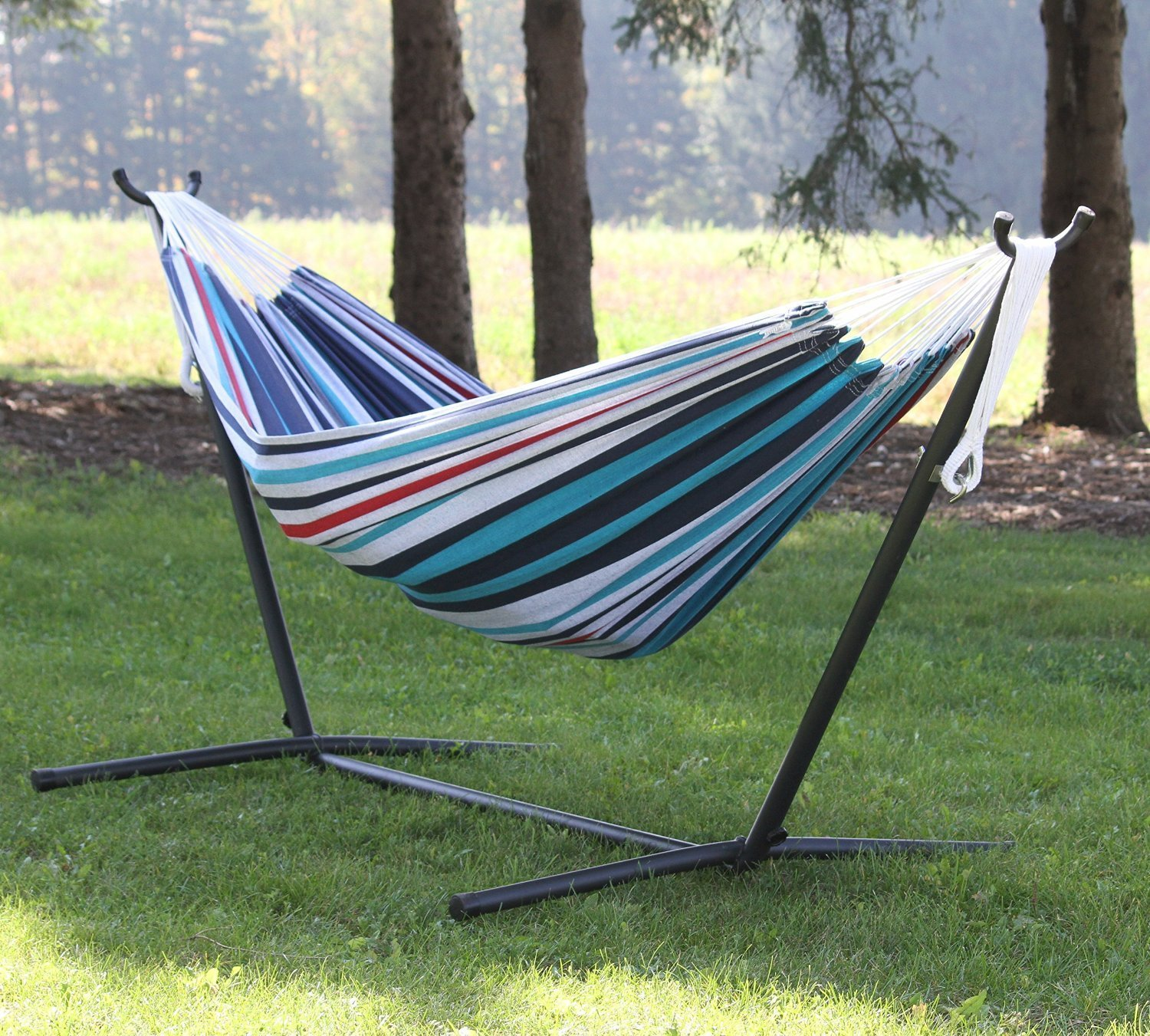 Eclipse Collection Vivere's Combo - Double Denim Hammock with Stand (9ft) by Eclipse Curtains