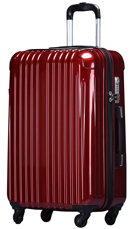 ラッキーパンダ スーツケース TY001 ハード 超軽量 TSAロック ファスナータイプ 機内持込 B01AA20MZU Lサイズ(長期旅行向け)|ワインレッド ワインレッド Lサイズ(長期旅行向け)