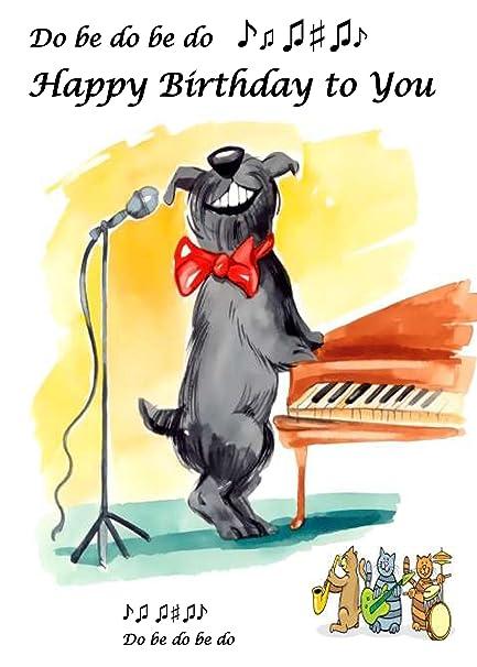 Birthday Dog Birthday Card Amazon Kitchen Home