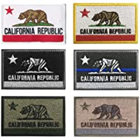 Antrix Bundle 6 Pieces Tactical US California State Flag Patch Hook & Loop Embroidered Military American California…