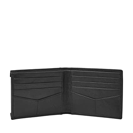 Fossil Mens Neel Leather Sliding 2 in 1 Wallet