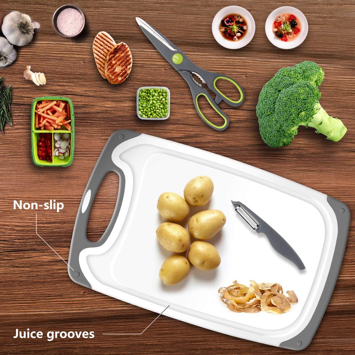 Amazon.com: PHILWIN Tabla de cortar para cocina, tabla de ...