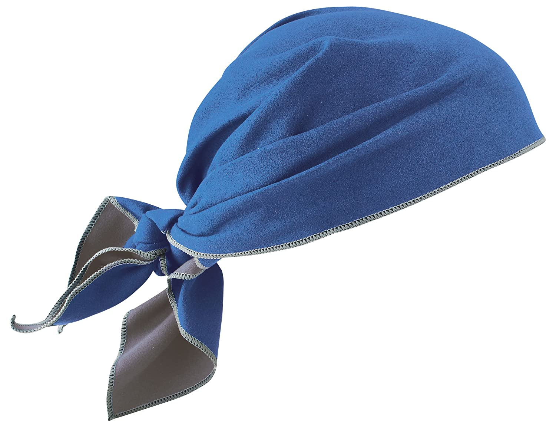 Ergodyne Chill-Its 6710MF Blue Microfiber Cooling Dew Rag