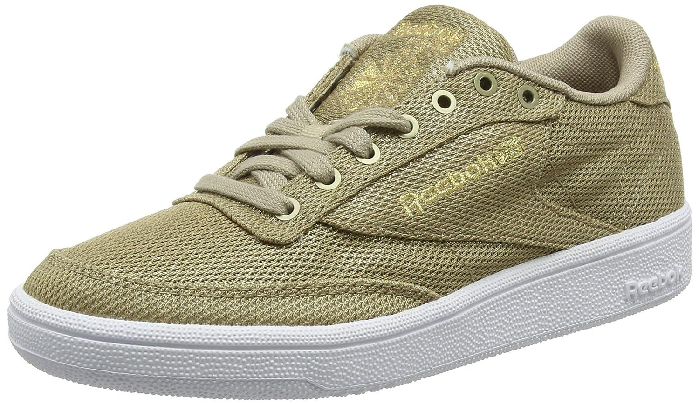 6c98495f5be3 Reebok Women's Club C 85 Metallic Mesh Low-top Sneakers Brown (Champagne/White)  3.5 UK: Amazon.in: Shoes & Handbags