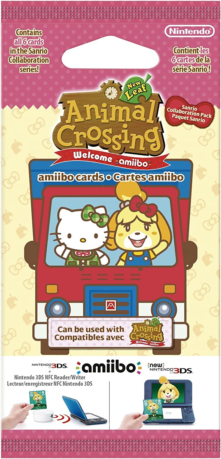 Nintendo - Pack 6 Tarjetas Amiibo Animal Crossing, Hello Kitty ...