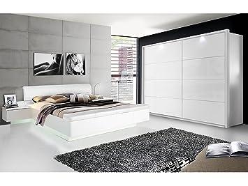 SILENT Komplett-Schlafzimmer, weiss Hochglanz, 4-teilig, 270 cm ...