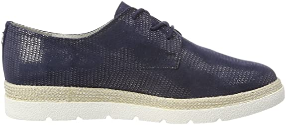 s.Oliver 23659, Zapatos de Cordones Oxford para Mujer, Negro (Black), 39 EU