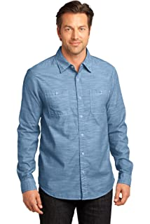 5f61723c District Made Women's Long Sleeve Washed Woven Shirt at Amazon ...