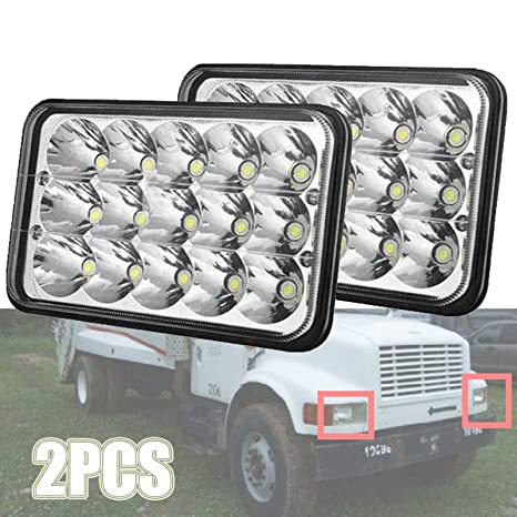 4x6 led headlights for kenworth t800 / t400 , high and low sealed beam,  super