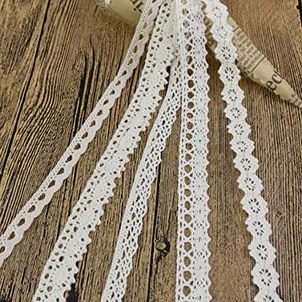 Beautiful 10 Yards  Lace Ribbon 20MM Wide Lace Trimming 15 Colors