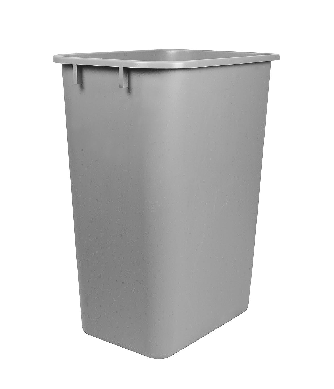 Storex Large Waste Basket 15.5 x 11 x 20.75 Inches, Gray (STX00701U01C)