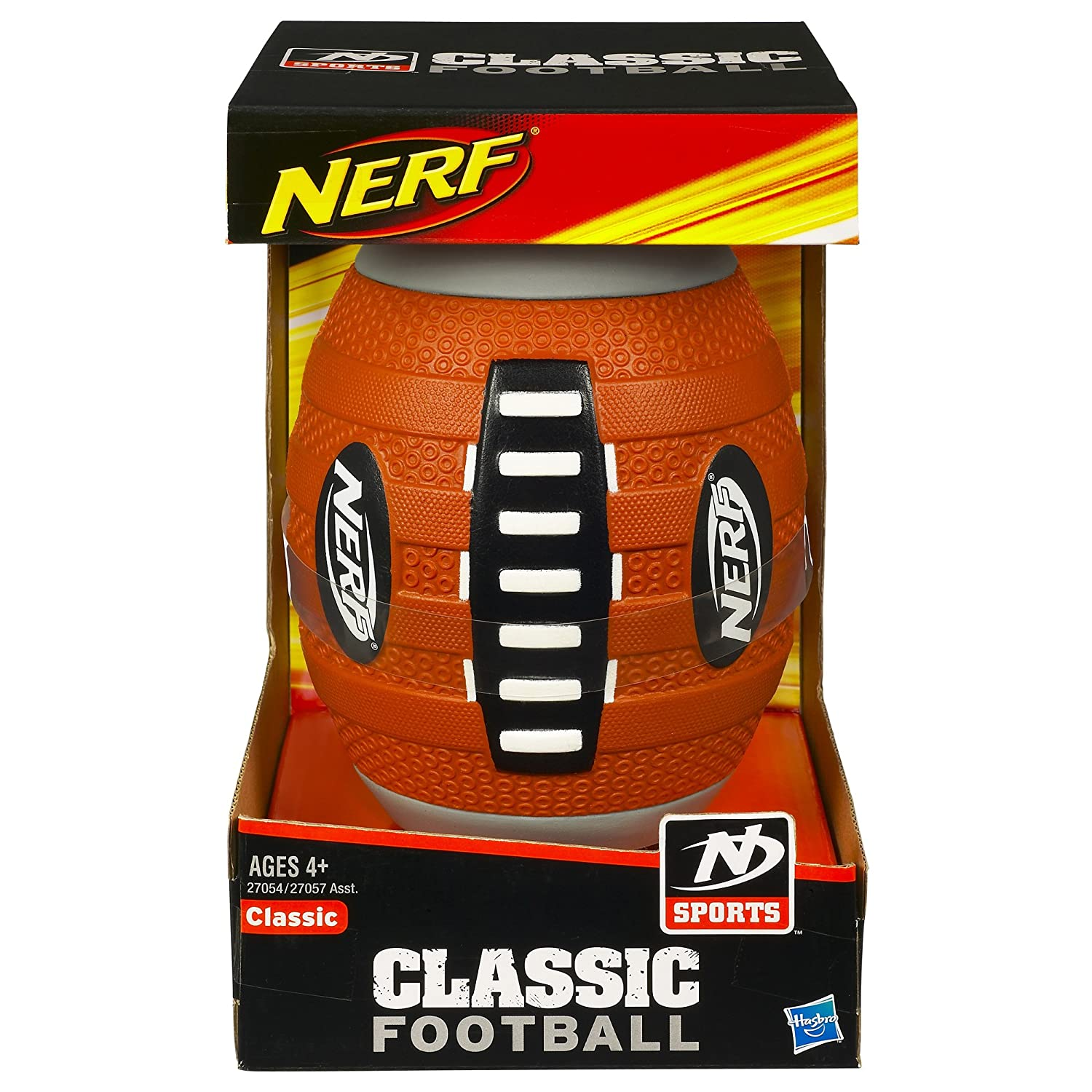 Amazon.com: Nerf N Sports Classic Football (Orange and Black): Toys ...