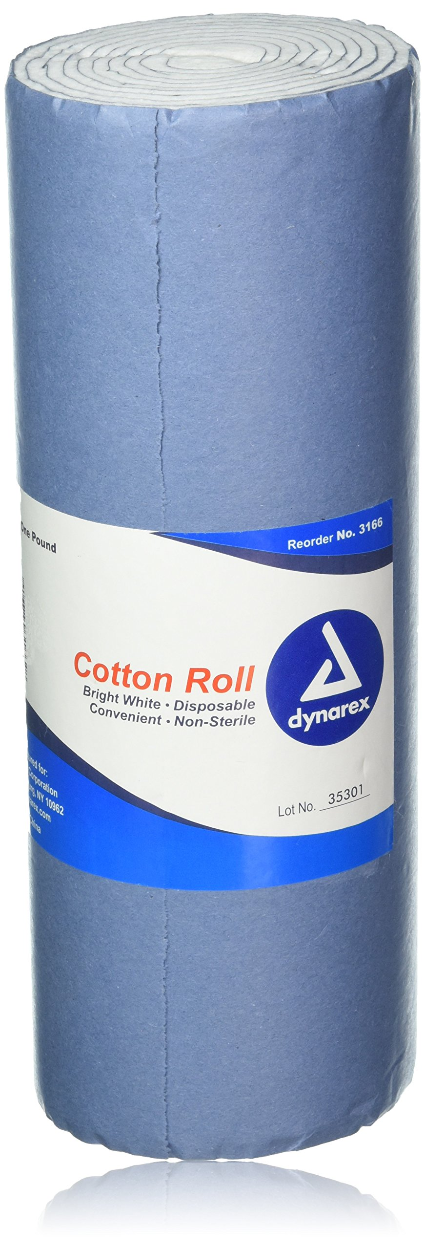 Dynarex Cotton Roll Non-Sterile 12''X56'' 1 lb by Dynarex