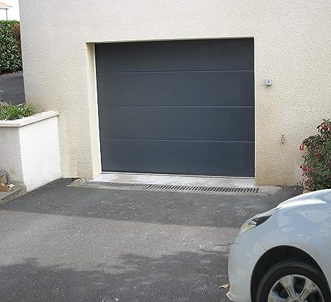 Clausa Puerta de Garaje motorisable, Acero, Gris 7016, 10 x ...