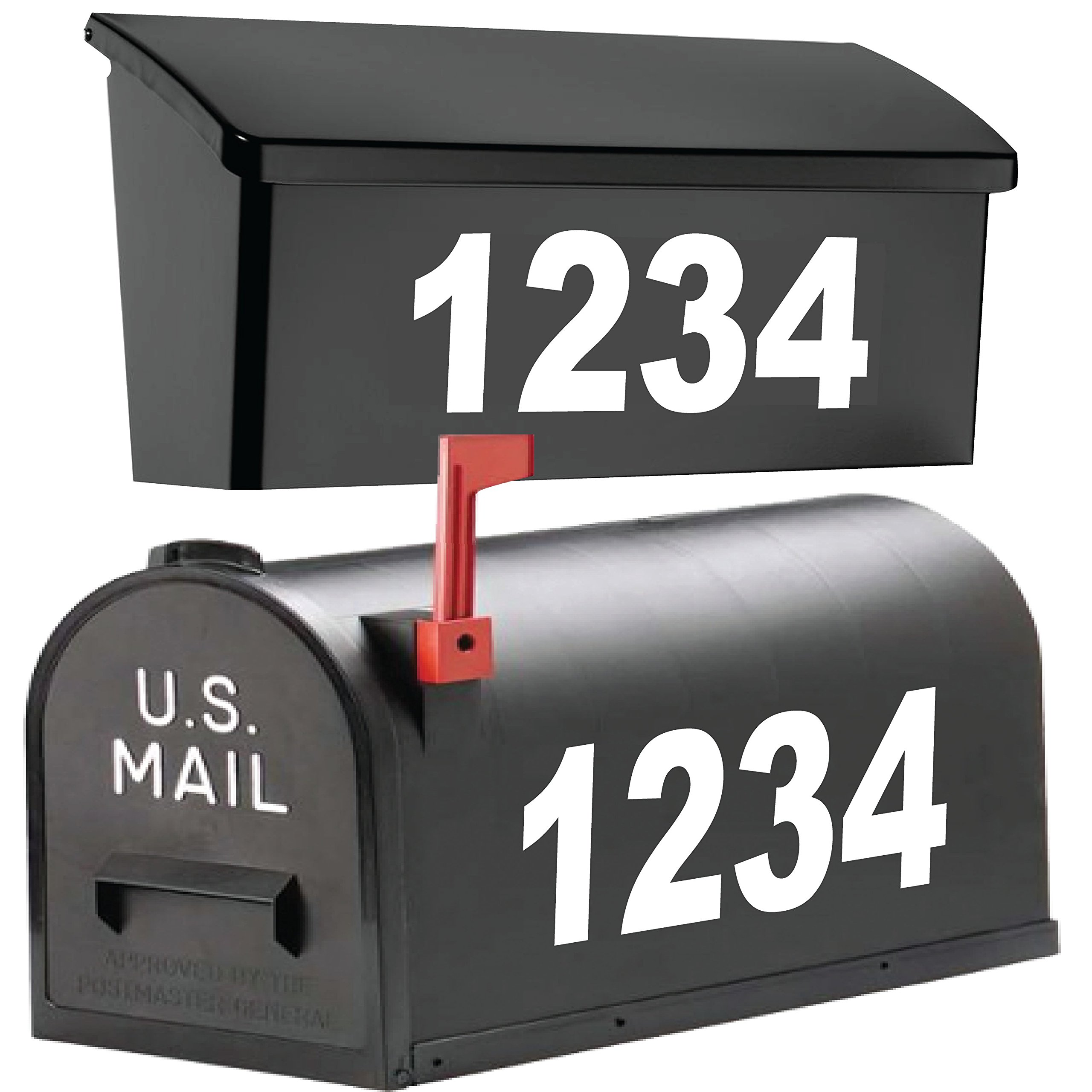 2'' High Mailbox Numbers. / Premium Reflective Vinyl. / Custom Home Business Street House Apartment Address Numbers. / Outdoor Letter Number Decal Window Door Sticker Text. / by 1060 Graphics. by 1060 graphics (Image #1)