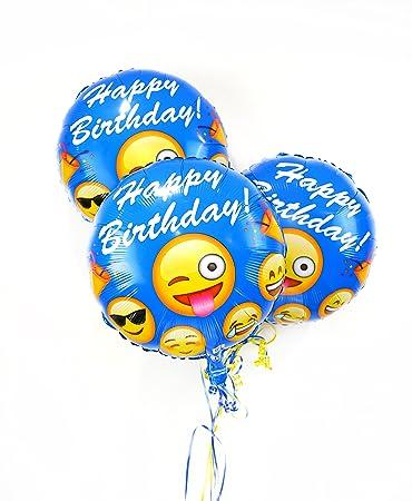 Emoji Birthday Balloons I Love Helium Grade 18 Decorations