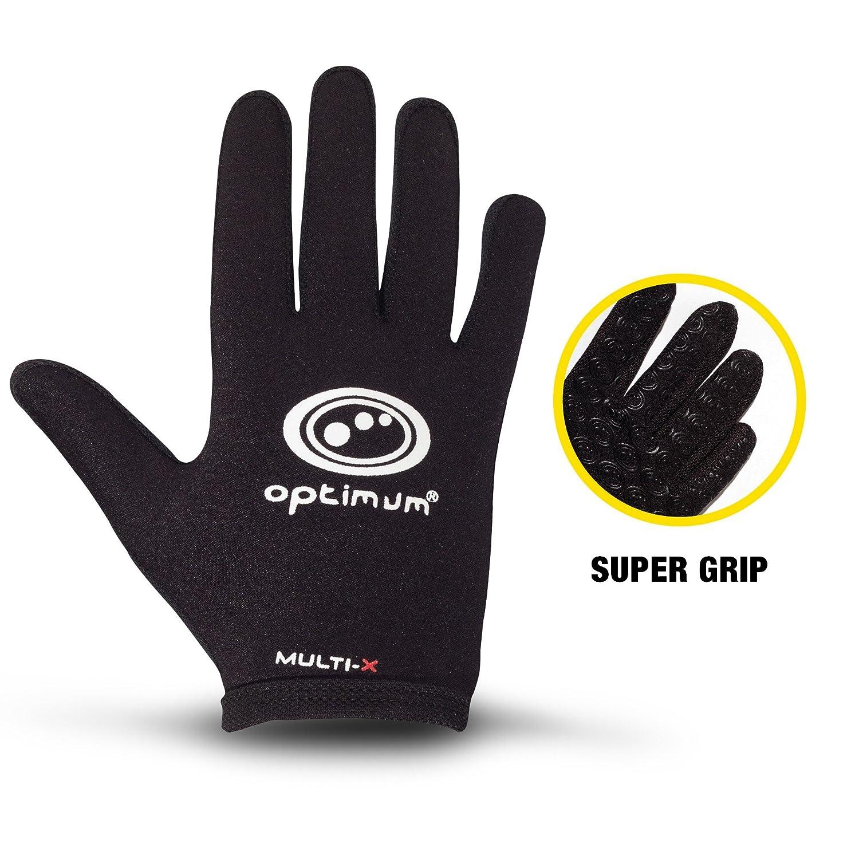Black Optimum Unisex Senior Multi-X Full Finger Gloves Large