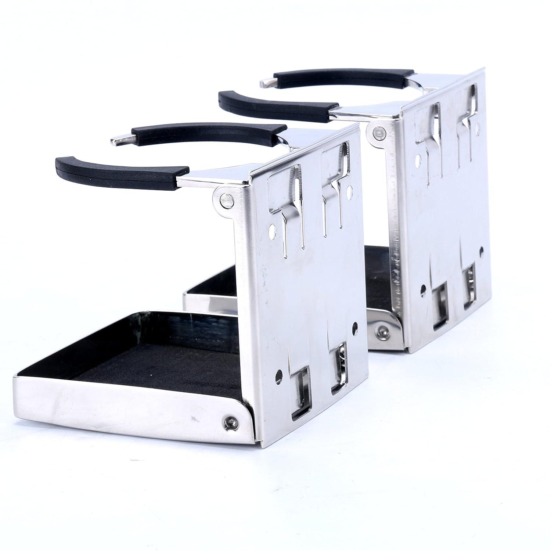 AMM-dh-fold Amarine-made 4pcs Stainless Steel Adjustable Folding Drink Holders Marine//boat//caravan//car Alfa-Marine Shanghai