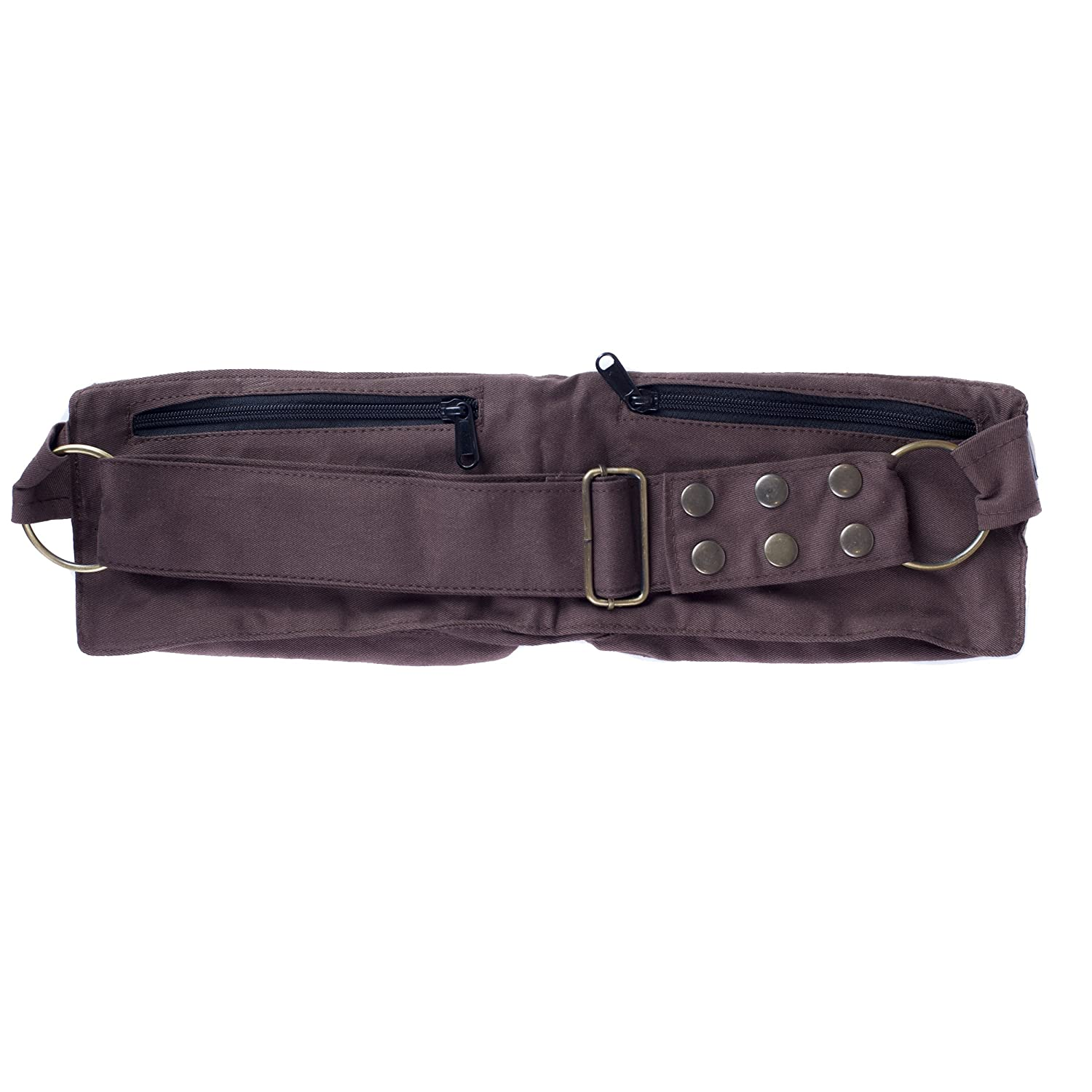 Womens Cotton Travel Utility Festival Belts Fanny Pack-Black-One Size