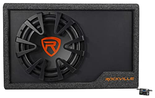 The Rockville RWS12CA has a peak power output of 1200 Watts and an RMS of 400 Watts RMS.