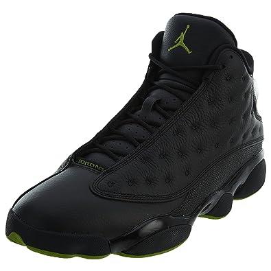 20ba3fd7aae Amazon.com | Jordan Men's Air 13 Retro, Black/Altitude Green | Basketball