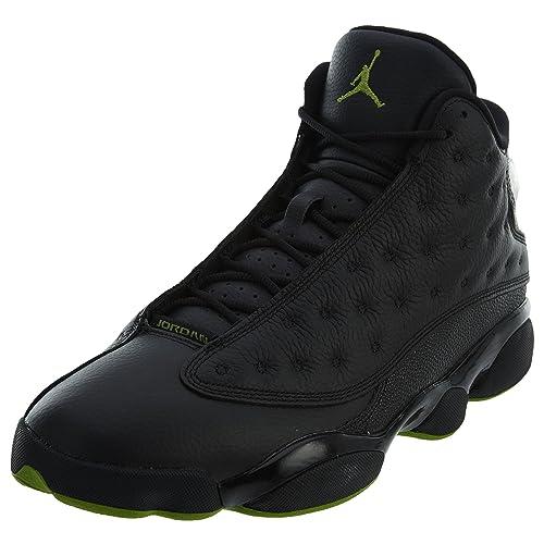 taille 40 299ce 19667 Nike Chaussures Hommes Jordan 13 Retro Altitude en Cuir Noir 414571-042