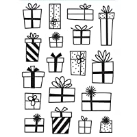 Darice 30032594 Presents, 4.25 x 5.75 inches Embossing Folder, Clear