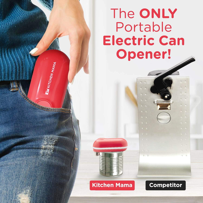 glatte Kanten batteriebetrieben und tragbar Kitchen Mama Automatischer elektrischer Dosen/öffner: Ergonomisch einfach zu bedienen und freih/ändig perfekt f/ür Senioren mit Arthritis