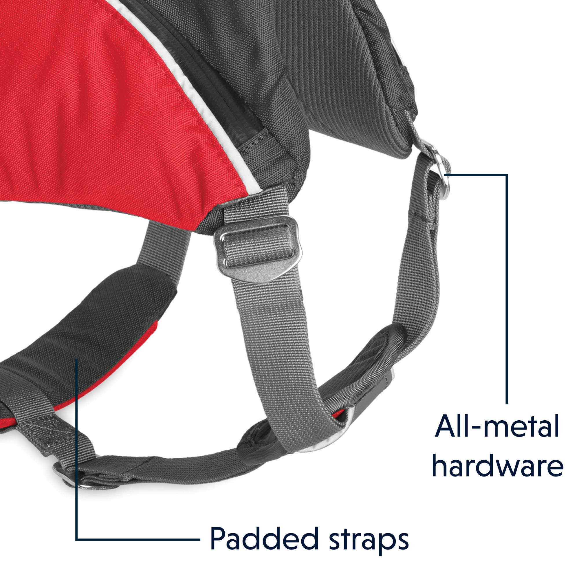 RUFFWEAR - Web Master Pro Dog Harness, Search and Rescue, Service Dogs, Snowboarding, Skiing, Everyday Wear, Red Currant, Small by RUFFWEAR (Image #6)