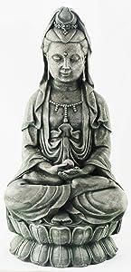 Kuan Yin Sitting Garden Statue Concrete Asian Statue