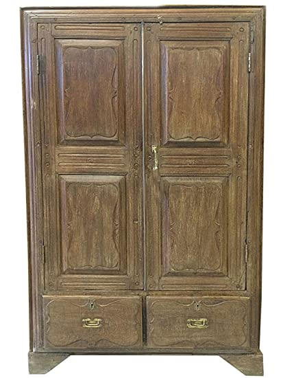 Antique Armoire Spanish Style Almirah Furniture Vintage Cabinet Storage