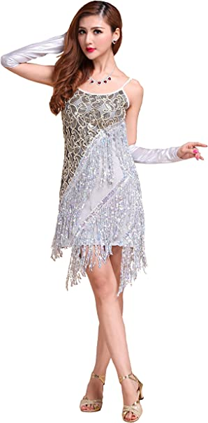 Amazon.com: Forgrace - Vestido sexy de danza latina con ...