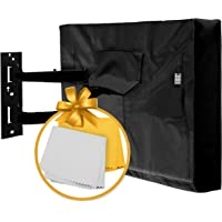 """Outdoor TV Cover 52"""" - 55"""" - with Bottom Cover - The Best Black Quality Weatherproof and Dust-Proof Material with…"""