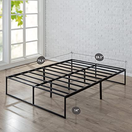 zinus 14 inch platforma bed frame mattress foundation no box spring needed steel - No Box Spring Bed Frame
