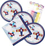 JJ Party Supplies Lil Flyer Airplane Theme Plates and Napkins Serves 16 With Birthday Candles  sc 1 st  Amazon.com & Amazon.com: Day of the Dead Dia De Los Muertos Party Supplies Paper ...