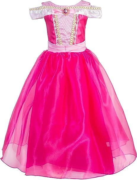Amazon.com: Okidokiyo Princesa Aurora disfraz para fiesta de ...