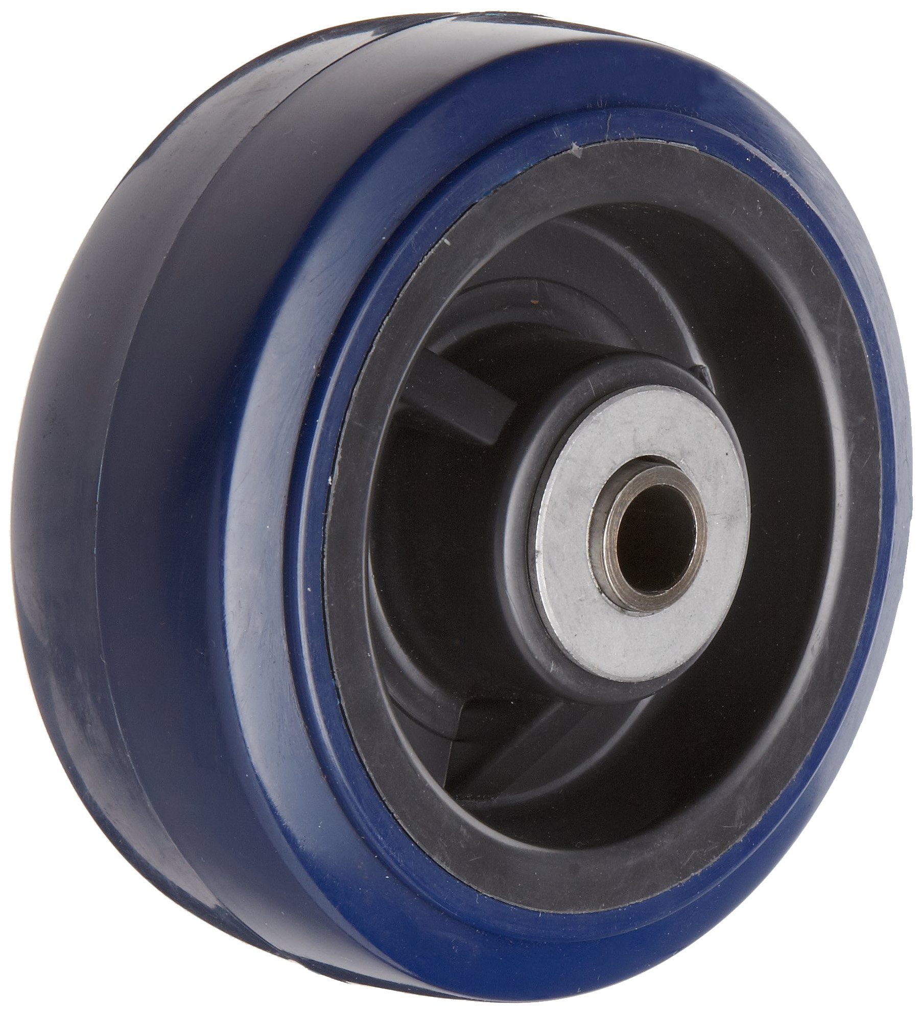 RWM Casters UPR-0520-08 5'' Diameter X 2'' Width Urethane On Polypropylene Wheels With Straight Roller Bearing, 750 lbs Capacity