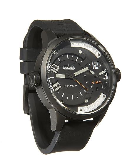 Welder K48-600 - Reloj para hombres, correa de goma color negro