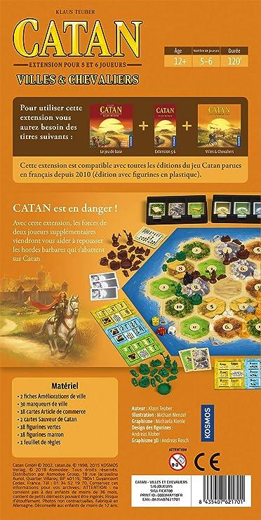 Asmodée- Catan-Extension Ciudades y Caballeros 5/6 Jugadores, FICAT08, Juego de Estrategia: Amazon.es: Juguetes y juegos