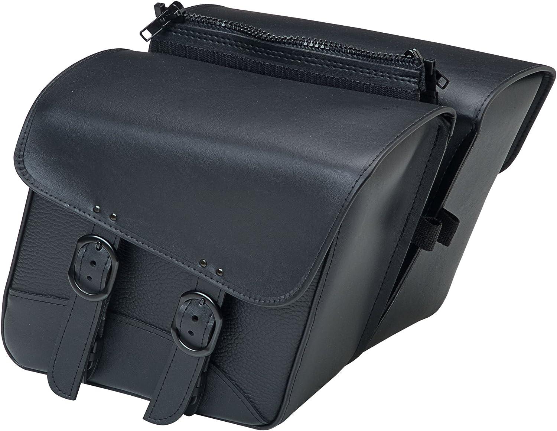 Dowco Willie & Max Synthetic Leather Compact Slant Motorcycle Saddlebag Set