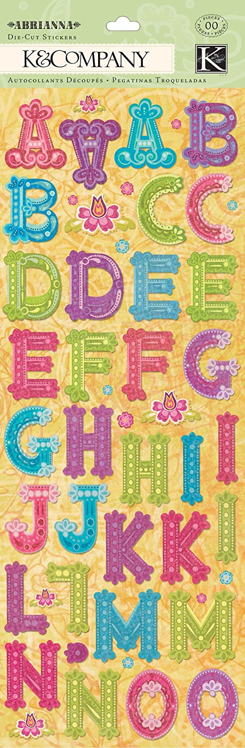 Abrianna Collection K and Company Alphabet Die-Cut pegatinas