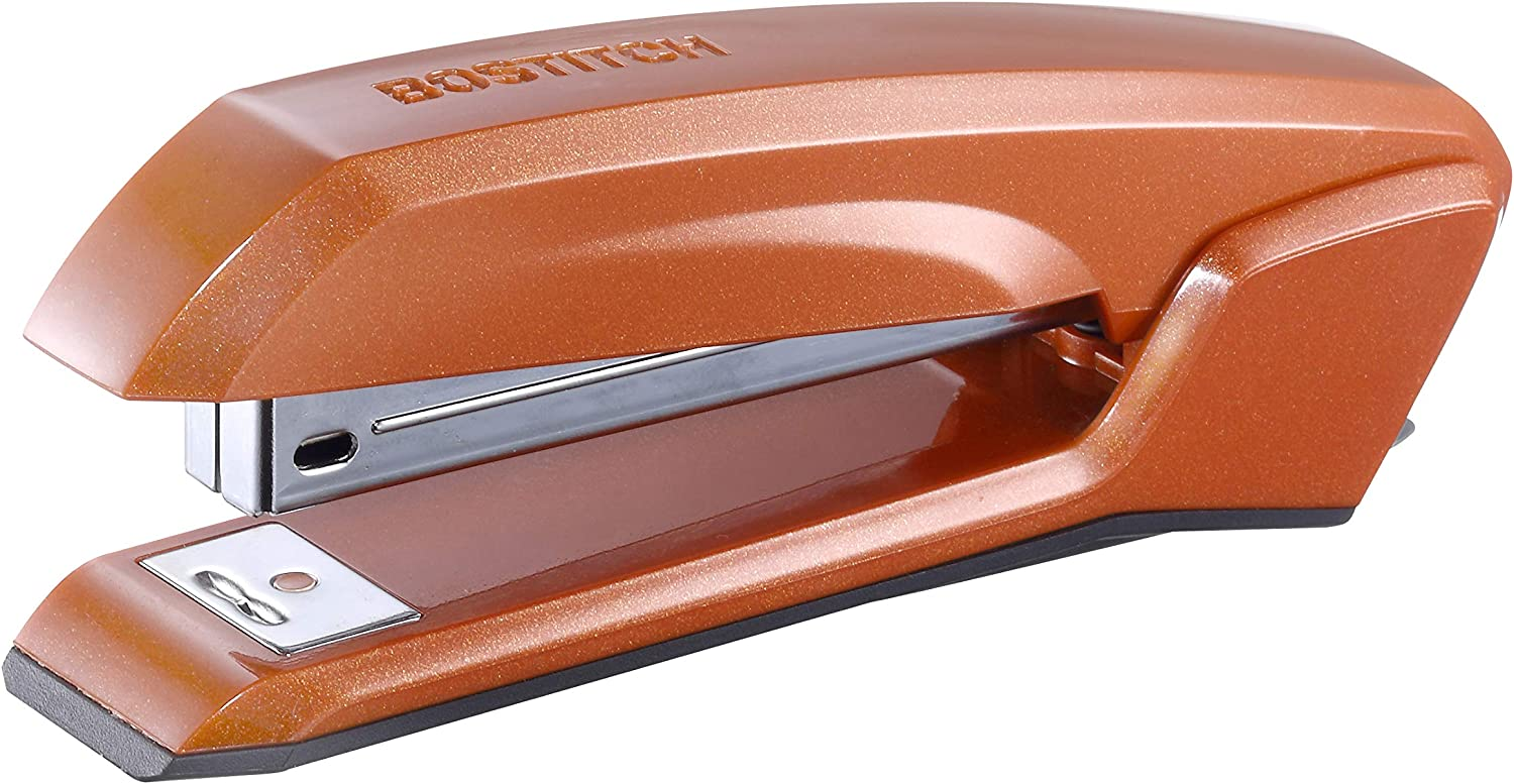 Bostitch Office B210R-ORG Ascend 3 in 1 Stapler with Integrated Remover & Staple Storage, Orange (B210-ORG)